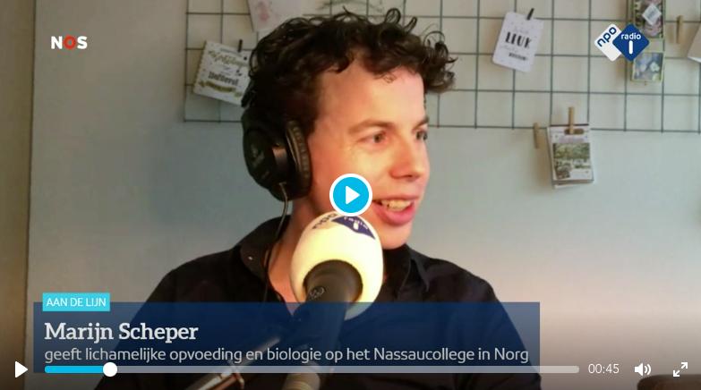 Marijn Scheper van het Dr. Nassau College in Norg.
